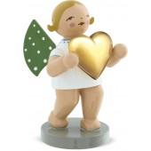 Engel mit Herz gold, blond