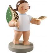 Engel mit Buch und Feder, braun