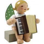 Engel mit Akkordeon, blond