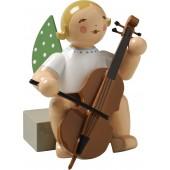 Engel mit Violoncello, sitzend