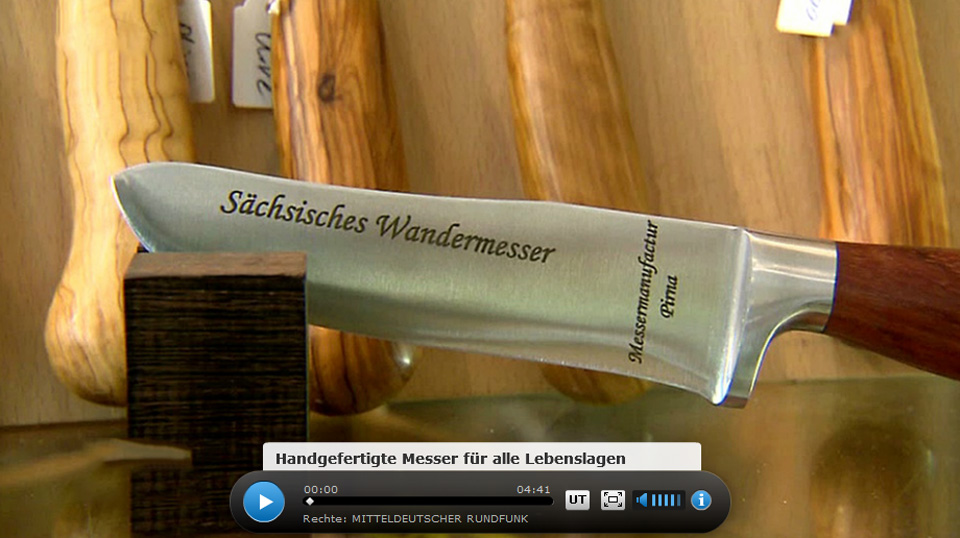 Die Messermanufactur Pirna beim MDR - Video